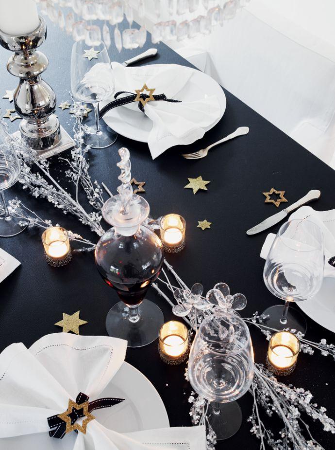 Table noel etoile design