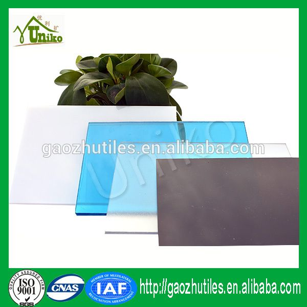 2015 new products bayer makrolon color transparent plastic panel policarbonat solid made in china