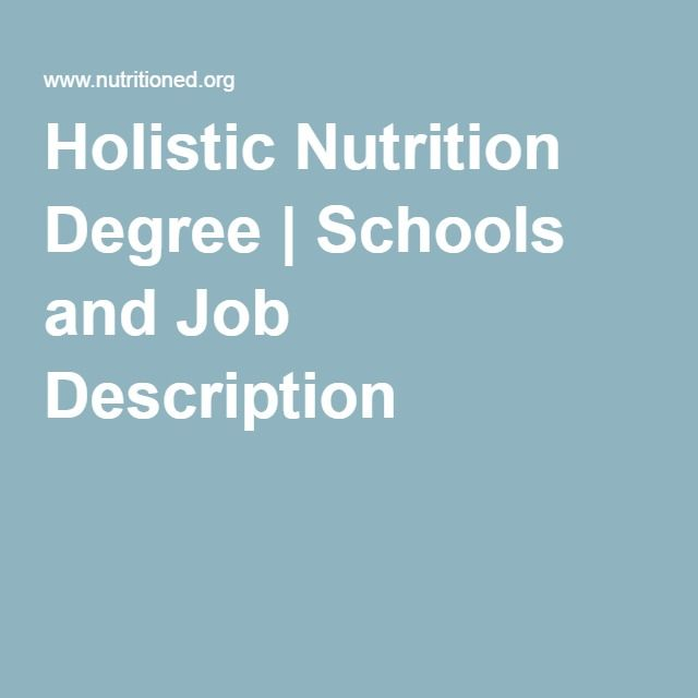 Holistic Nutrition Degree | Schools and Job Description