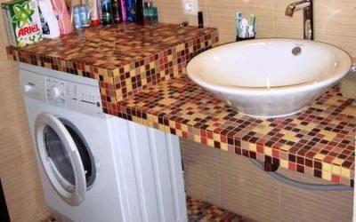 Столешница в ванную своими руками: инструкции, схемы, видео материалы. Руководство по установке столешницы.