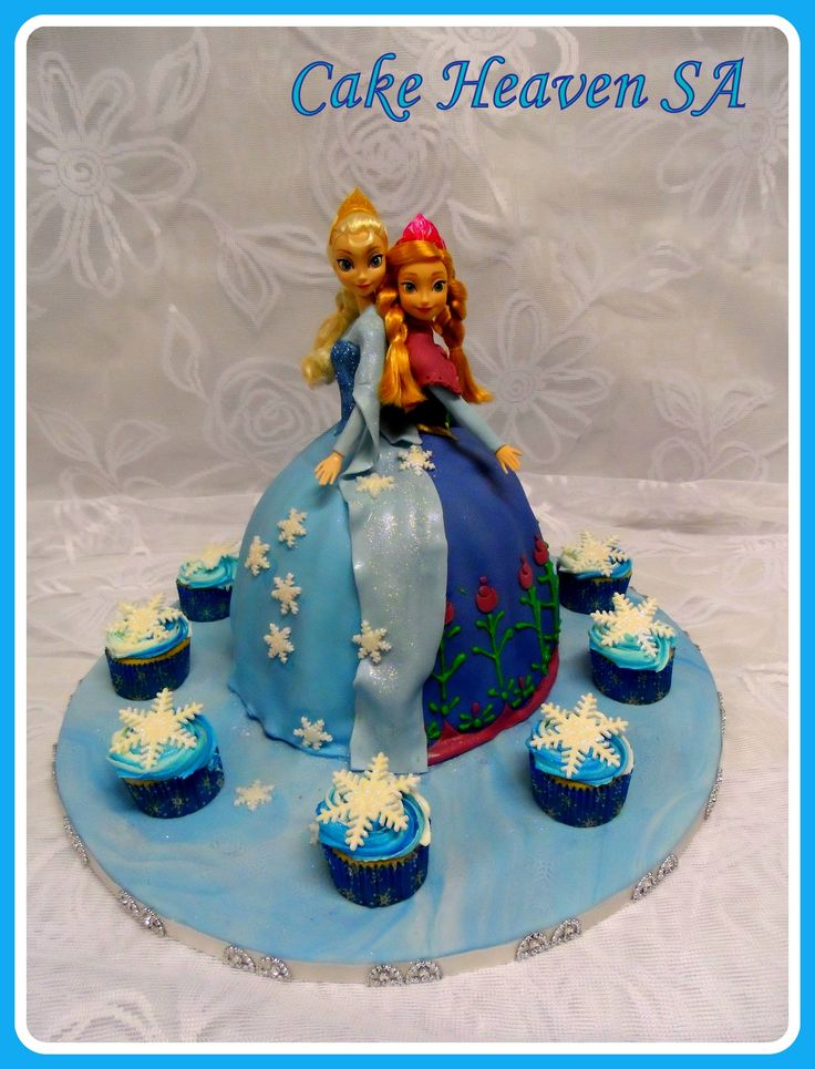 Frozen Themed Doll Cake (Original Design by Cup 'n Cake)