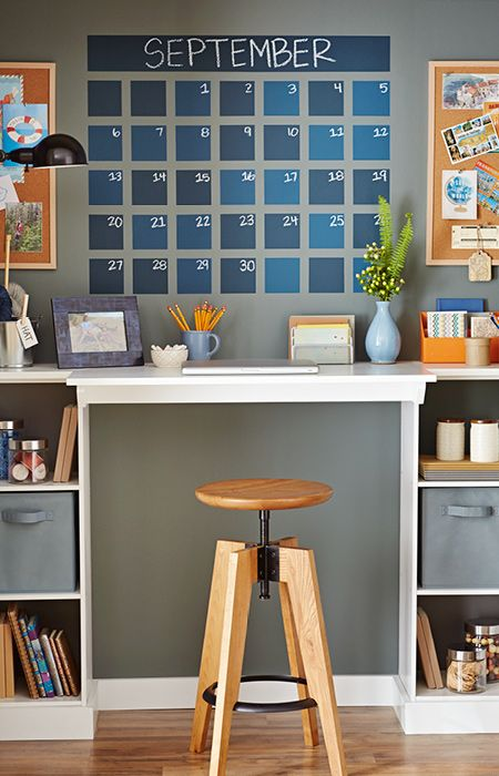 Match The Painted Chalkboard Calendar Colors To Your Room. Wipe It Clean  Monthly With A Moist Cloth.   Loweu0027s Creative Ideas