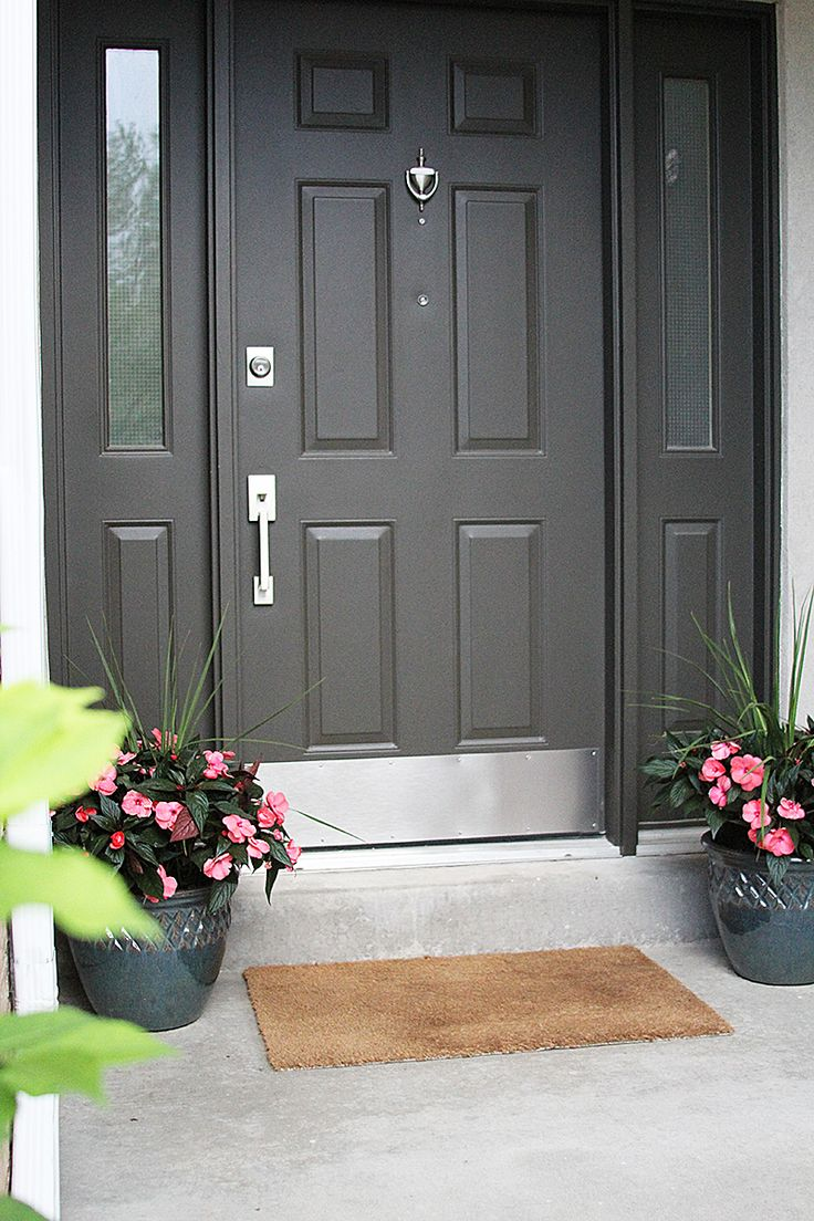 Adding a kick plate to your entryway protects your door and provides years  of durability and long lasting beauty 15 best house exterior images on Pinterest   Front door colors  . Entry Door Kick Plates. Home Design Ideas