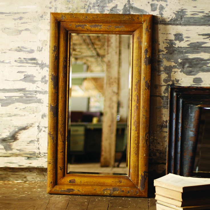 love this mustard colored mirror