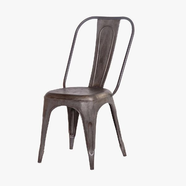 Pewter Colour Metal Dining Chair £110