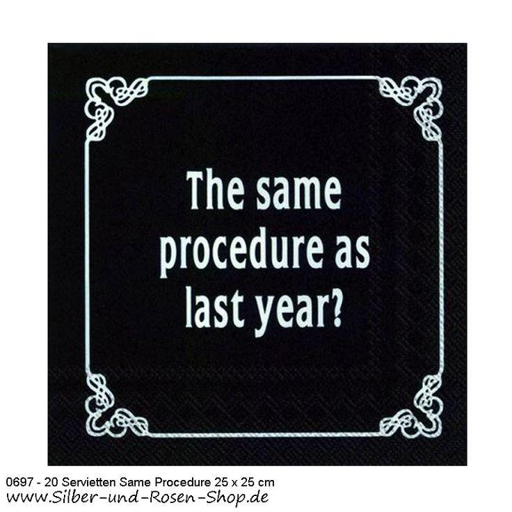 Papierservietten Same Procedure As Every Year 25 x 25 cm