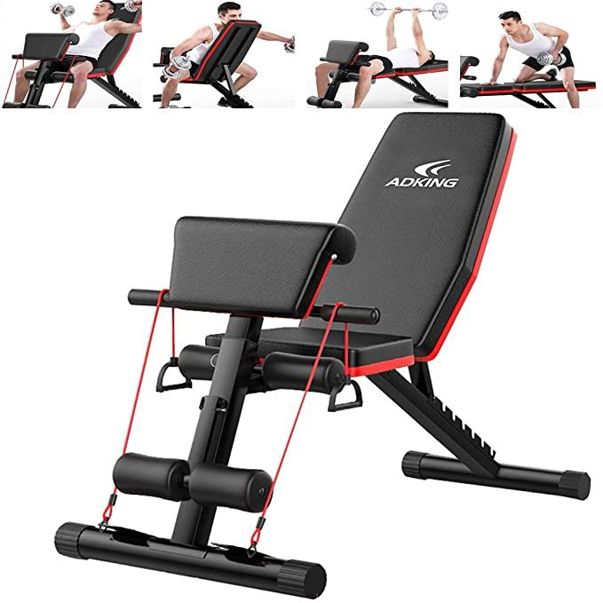 Home Gym Adjustable Weight Bench Foldable Workout Bench Adjustable Sit Up Incline Abs Benchs Flat F In 2020 Adjustable Weight Bench Weight Benches Bench Workout