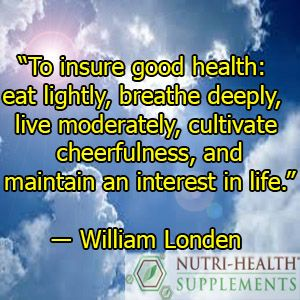 Eating moderately is the key to good health