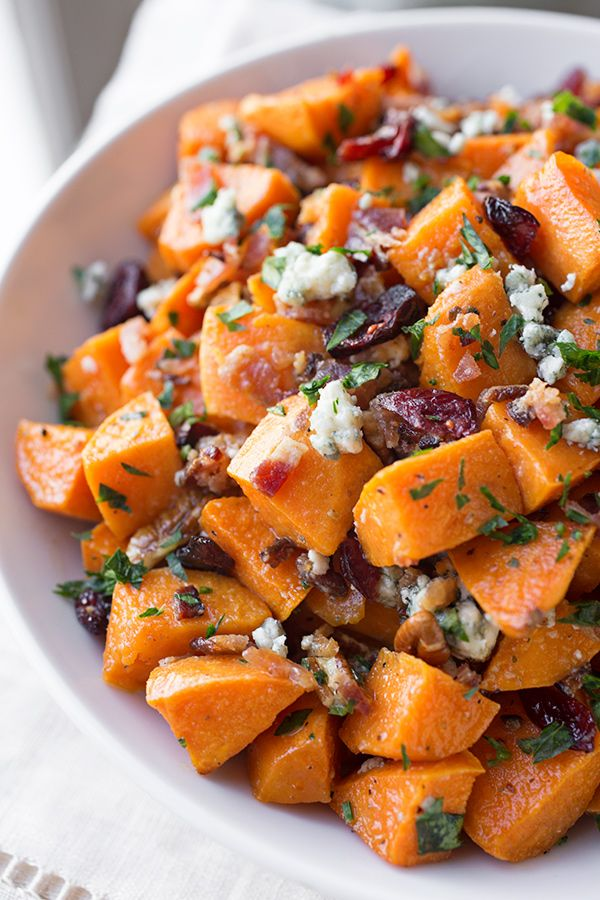 ... blue cheese cranberries sweet potatoes with blue cheese and pecans
