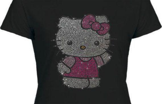 Nouveau t-shirt HELLO KITTY sweet joli mignon femmes filles
