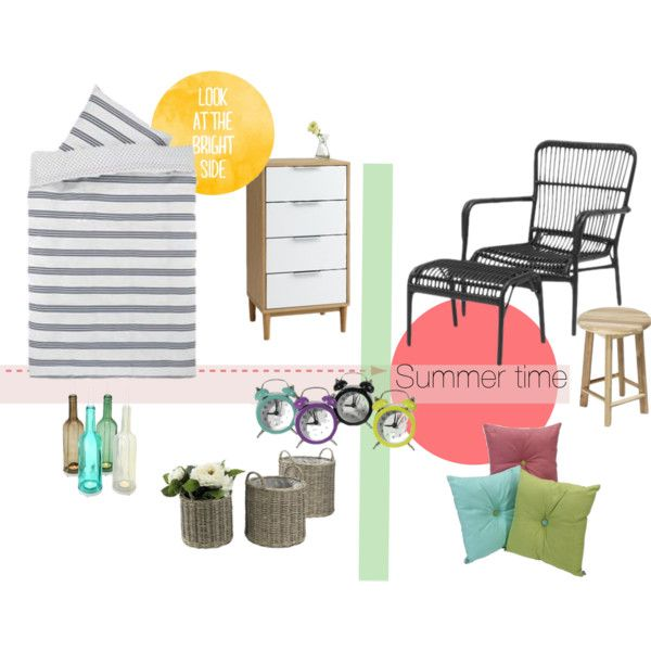 Summertime by kkru on Polyvore featuring interior, interiors, interior design, home, home decor and interior decorating