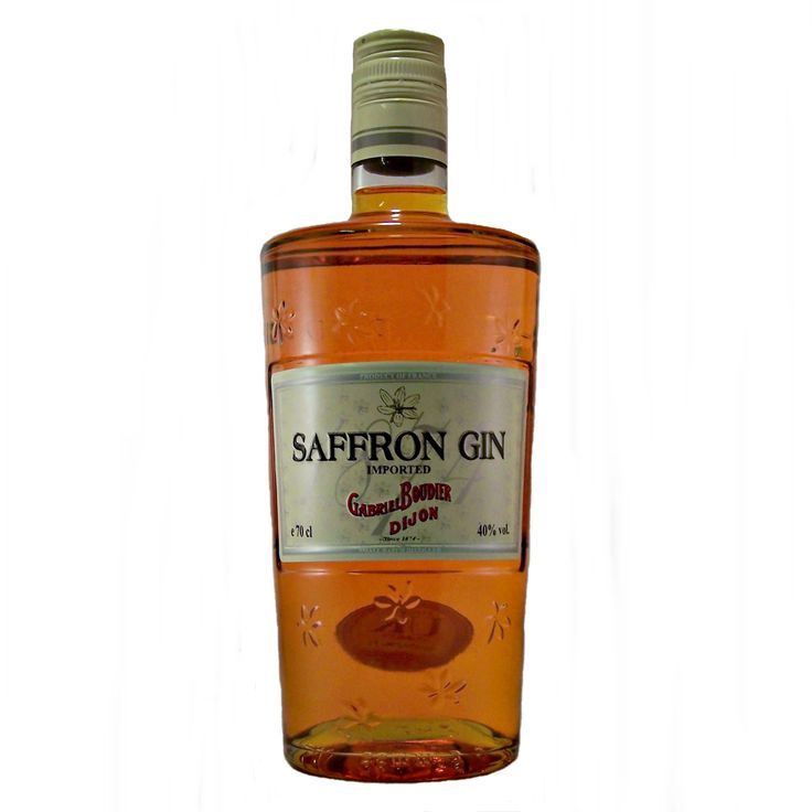 Saffron Gin Imported from Dijon France and produced by Gabriel Boudier and available to buy online at specialist shop whiskys.co.uk Stamford Bridge York