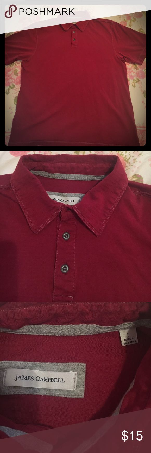"""James Campbell golf  polo T shirt James Campbell shirt (Armpit to armpit 21""""; shoulder to bottom 26"""". Only wore once in very condition) James Campbell Shirts Polos"""