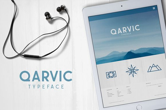 QARVIC Typeface by alit design on @creativemarket