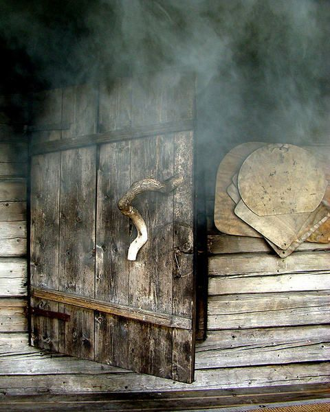 Traditional finnish smoke sauna. Hot and relaxing.