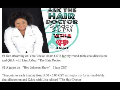 Ask The Hair Doctor streaming live Wednesday March 8TH (:PARDON TYPOS(: