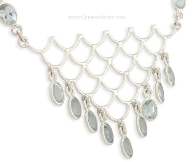 Elegant sterling silver necklace....... for more details please visit our website..... http://www.queenzdesire.com/index.php/cPath/24_34