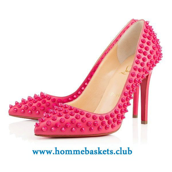 meilleures baskets 75c81 3e4ea Christian Louboutin Femme Pigalle Spikes Kid 100 mm PINKY ...