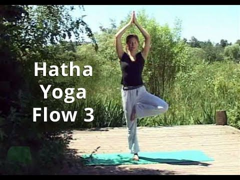 "For a full-body workout (that may be different from your normal routine) try this ""Hatha Yoga Flow 3"" video. 42 minutes of de-stressing and stretching."