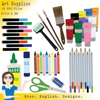 Art And Craft Supplies Clip