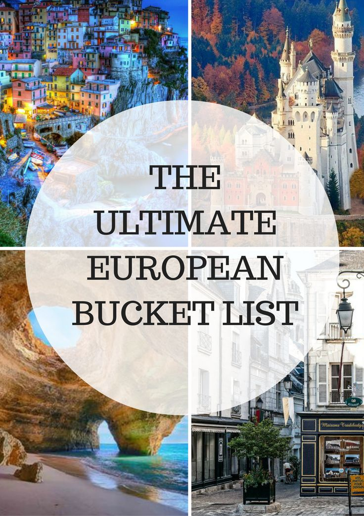 European Holidays that You Need to Have on Your Bucket List The Ultimate European Bucket List - lots of great info and must-see places when traveling to Europe.