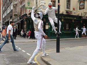 GB and Poland Fencing Team Photo Call