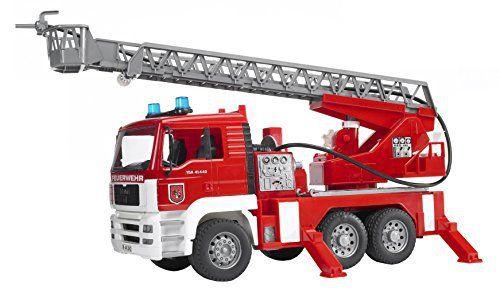 Bruder - 02771 - Camion de Pompier MAN avec Girophare, Lance, Lumière: Cet article Bruder - 02771 - Camion de Pompier MAN avec Girophare,…