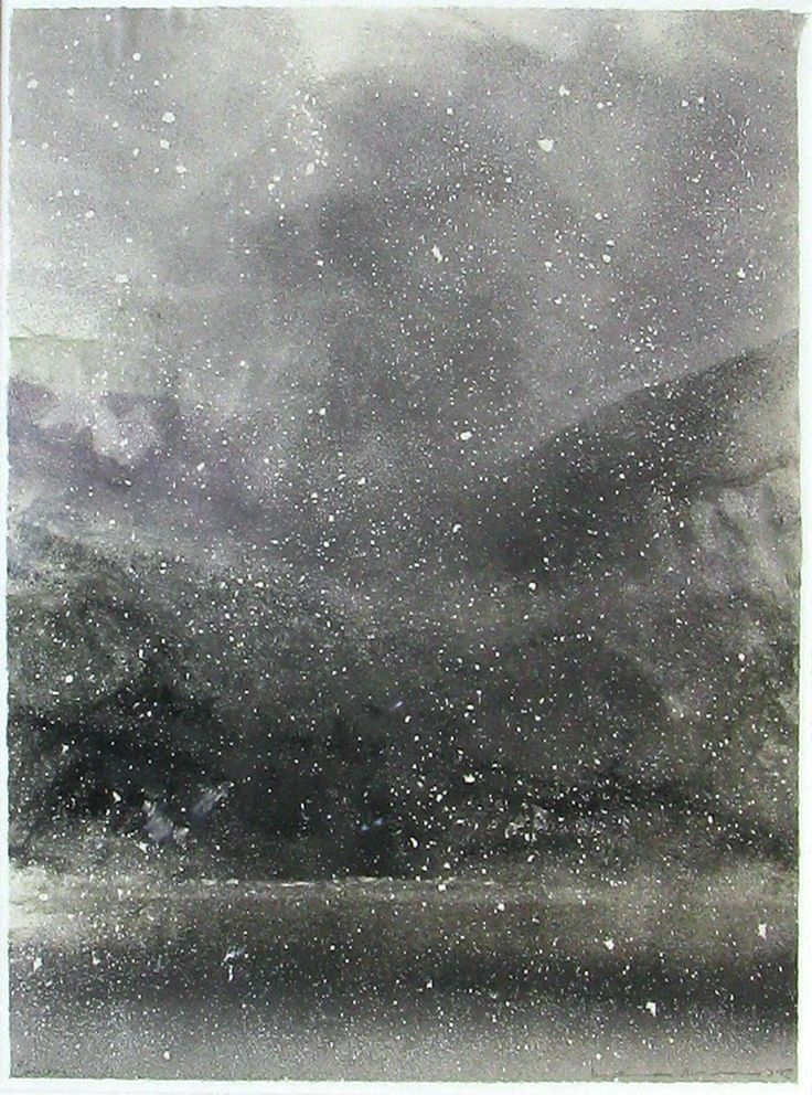 Norman Ackroyd's Coniston, monotype with chine colle