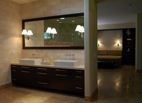 Like Square Sinks With Backsplash And Built In Lights In
