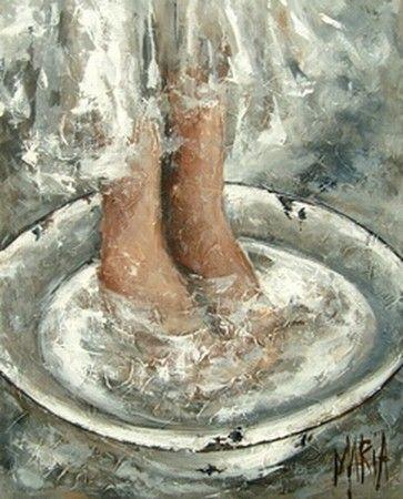 Voetewas Washing feet Maria Magdalena Oosthuizen - Artist