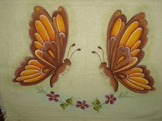 farfalle pittura su stoffa