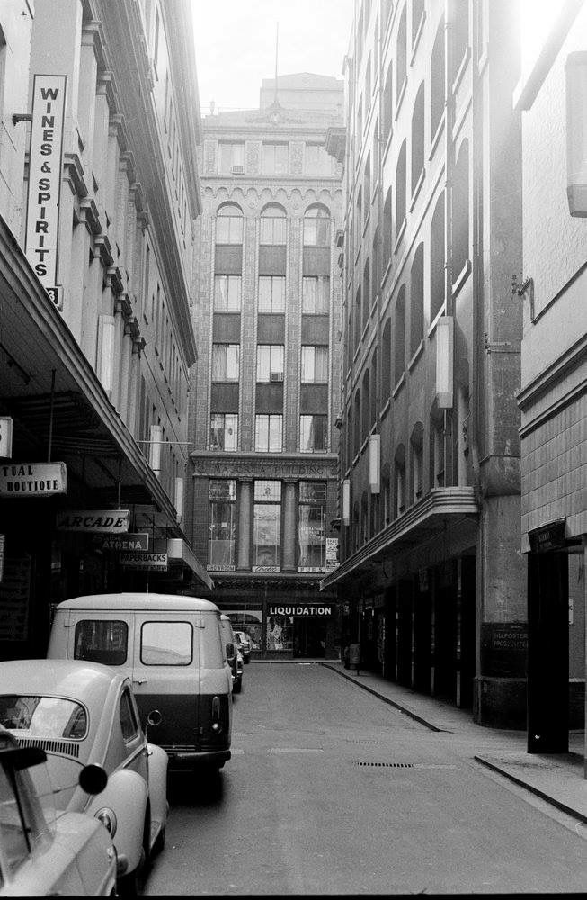 Degraves Street, Melbourne, 1972.