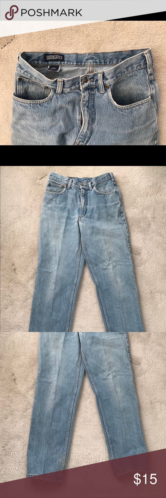 LANDS END Men's Jeans Size 30 Regular, but runs tight. Used. 3 pairs available for sale; each sold individually. Lands End Jeans Straight