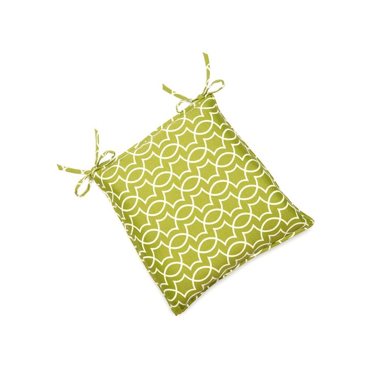 Edie Inc. Geo Trellis Indoor Outdoor Seat Pad, Green