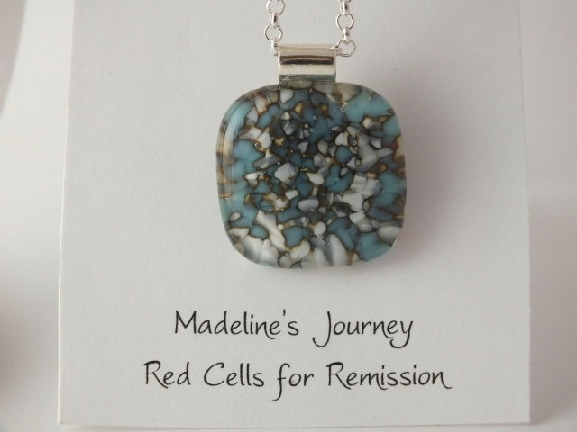 Fused Glass Pendant Modern Organic Reactions by madelinesjourney, $15.00
