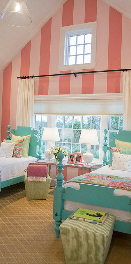 Striped Focal Wall Kids Room Decor
