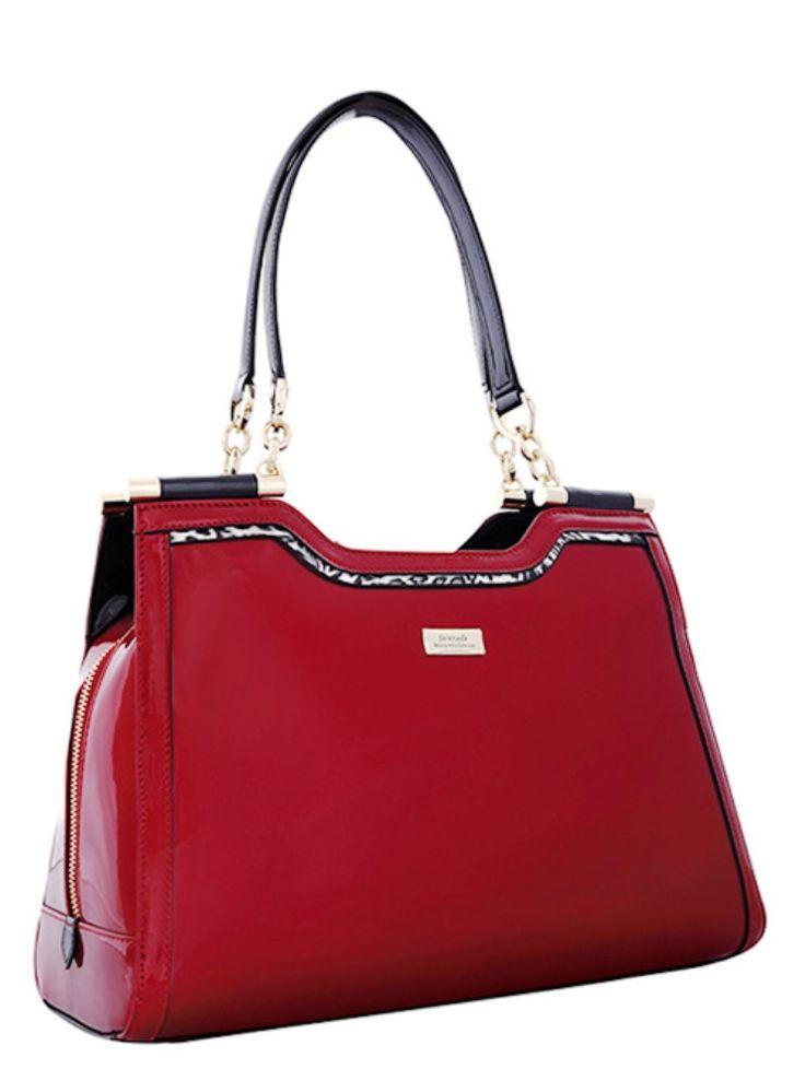 Serenade Phoenix Glossy Patent Leather Shoulder Bag. SH58-7502.