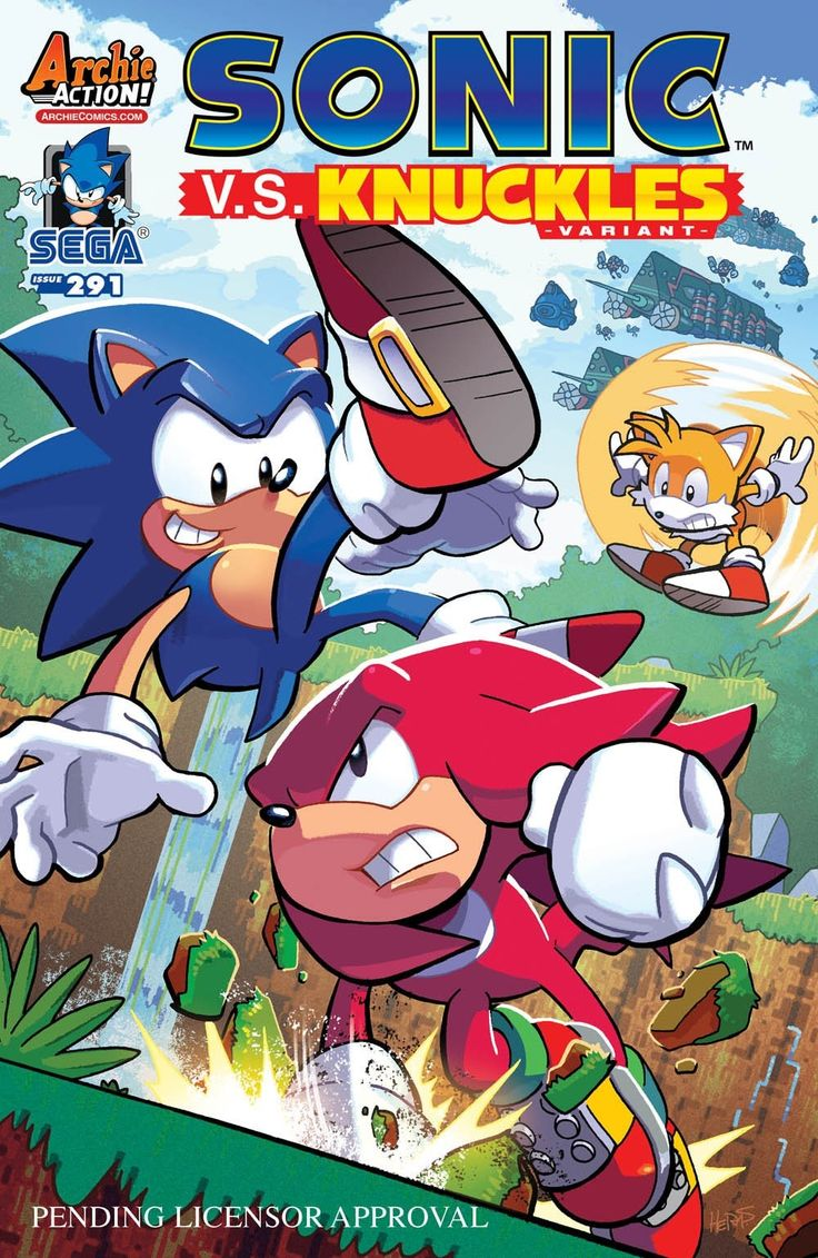"""The epic """"Genesis of a Hero"""" story concludes in January's issue of @sonic_hedgehog as Sonic and Tails confront Knuckles on Angel Island!"""