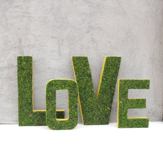 Moss LOVE Letters-Moss Letters-Woodland Wedding Decor-Moss Wedding Sign-Woodland Baby Shower Decor-Decorative Letters-Wedding Signage