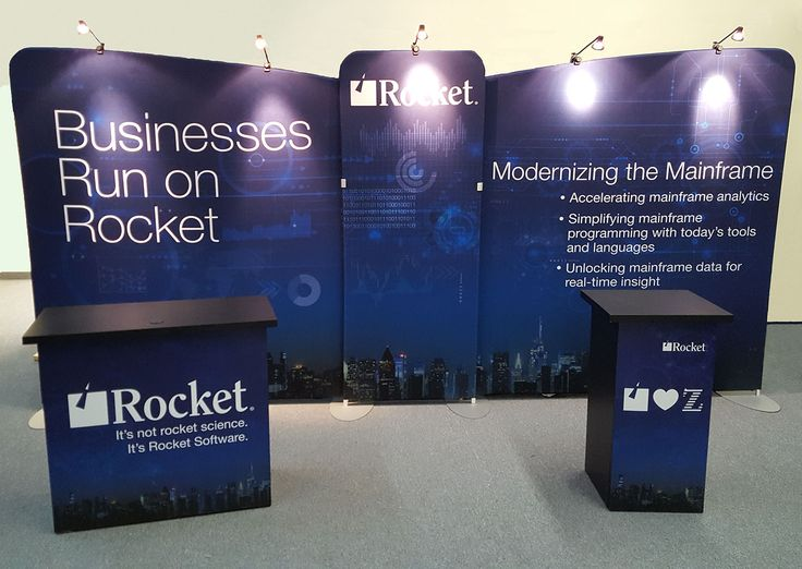 Adding fresh new graphics to its portable display really makes Rocket Software's brand pop on the show floor. #Rocket is at Booth #400 at SHARE San Jose.
