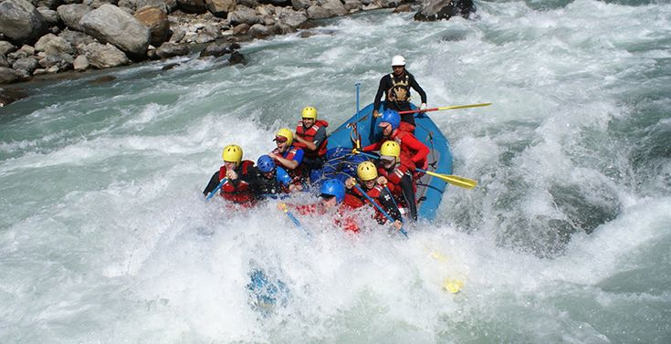 White river rafting in Wild Karnali river, Nepal.