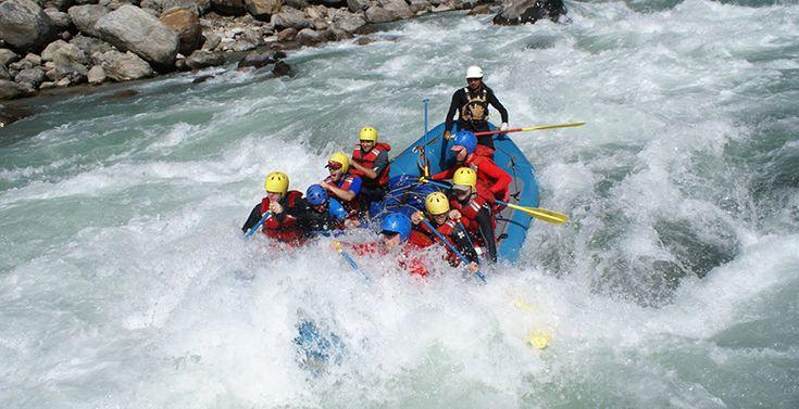 White river rafting in Wild Karnali river, Nepal.
