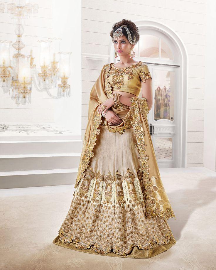 Beige Banglori Silk Designer Lehenga Choli 58949