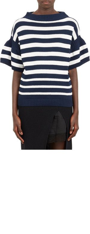 Sacai Bell-Sleeve Stripe Sweater at Barneys.com