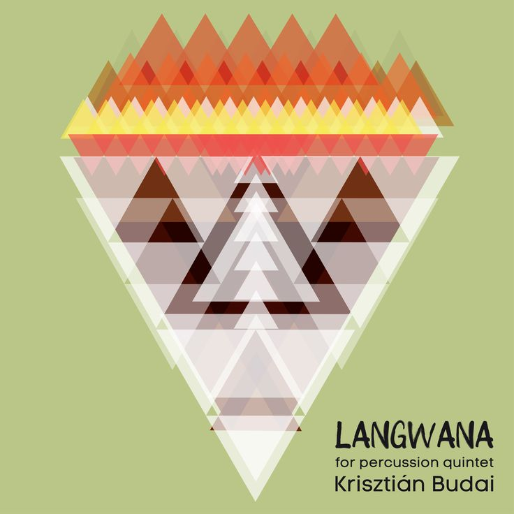 Krisztián Budai: Langwana (for percussion quintett), layout: Zsolt Budai