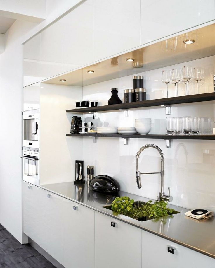 Love the countertop, faucet and shelves