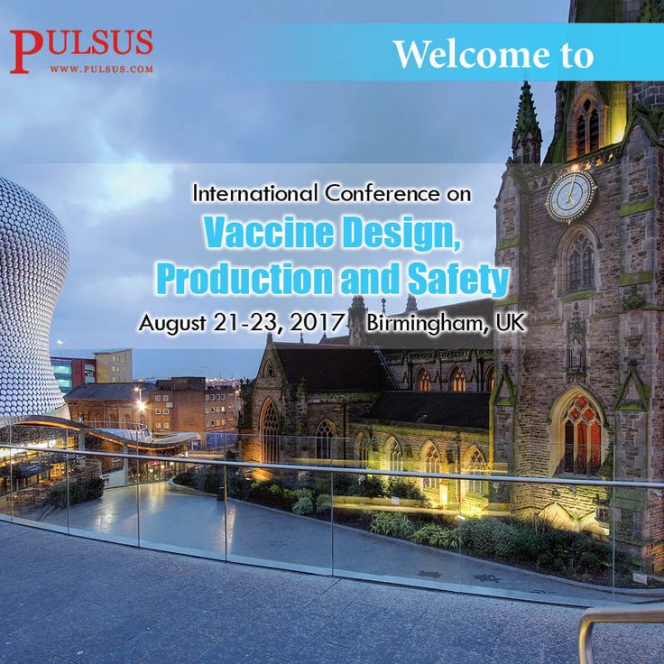 """Pulsus invites all the participants from all over the world to attend """"18th International Conference on Vaccine Design, Production & Safety"""" to be held on August 21-23, 2017, Birmingham, UK.  #Vaccine Design 2017 is based on the theme """"Deliberation on modern vaccine research and development focusing on vaccine design, delivery and evaluation"""". This includes prompt keynote presentations, Oral talks, Poster presentations and Exhibitions.  see more: http://vaccinedesign.cmesociety.com/"""