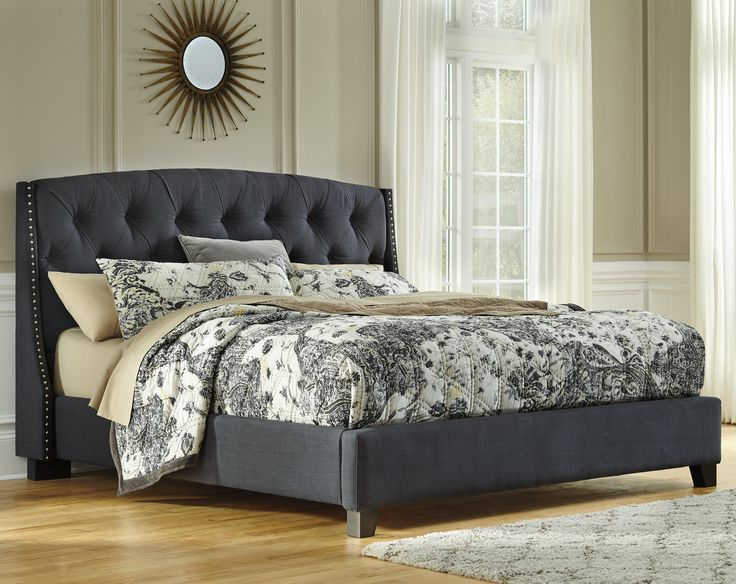 "Kasidon King Upholstered Bed by Signature Design by Ashley 55"" Becker world:"