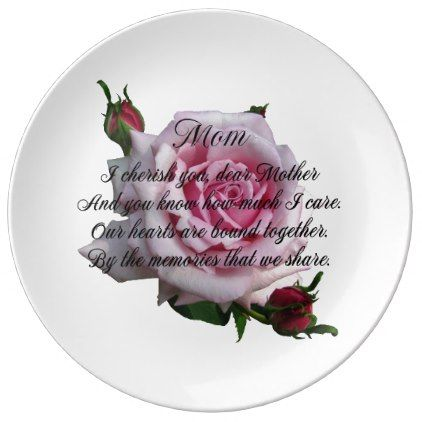 MOM QUOTE PLATE - diy cyo customize create your own personalize