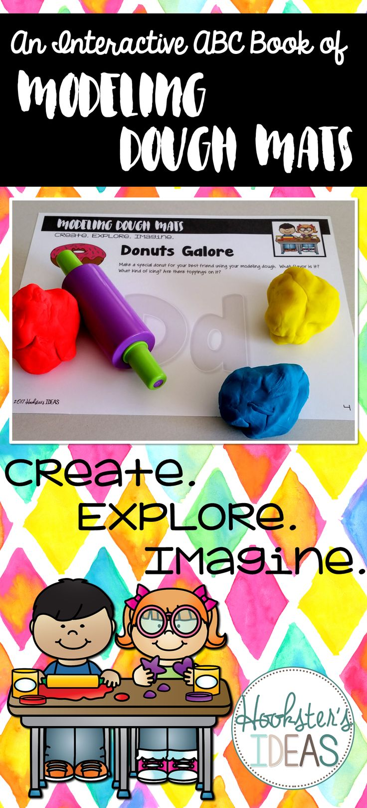 Have you ever wondered what you are supposed to do with modeling dough like Play Doh?   Use this interactive ABC book to help you and your child create, explore, and imagine with modeling dough!